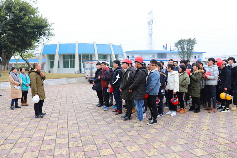 2019年1月9日 四川建院组织大学生到杰阳排水公司参观学习1_副本