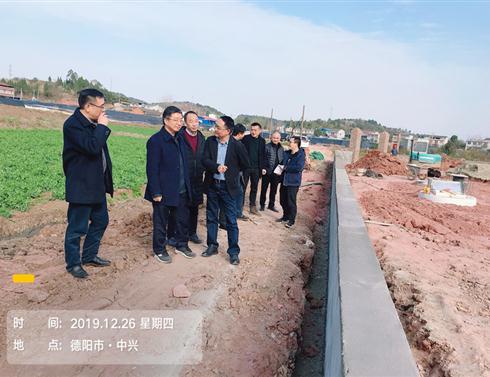 市委常委、政法委书记周新对城镇污水打包项目展开督查